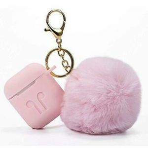 Accessories - Air Pods Case WITH Pom Charm and Carabiner Clip 🤩